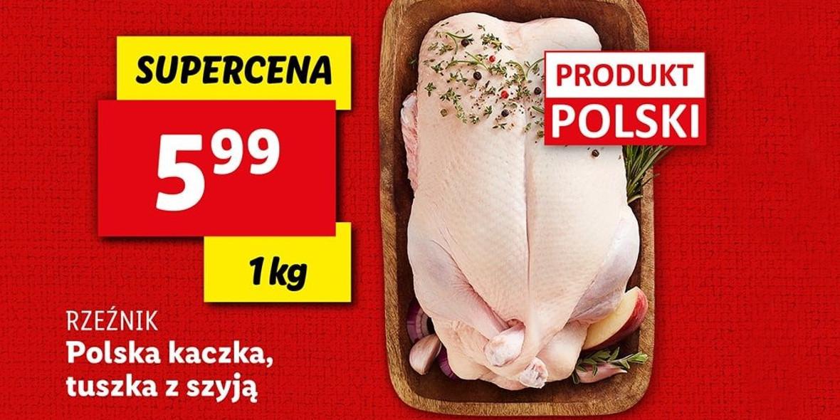 Lidl: 5,99 zł za polską kaczkę Rzeźnik 30.11.2020