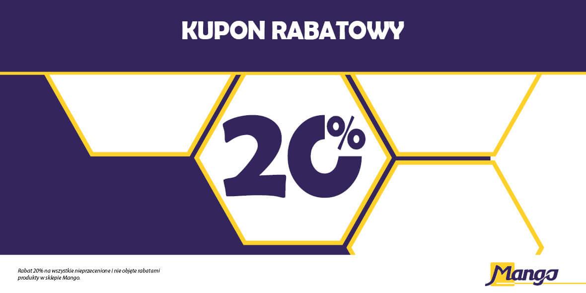 Mango.pl: -20% na wszystkie produkty w cenach regularnych 01.01.0001