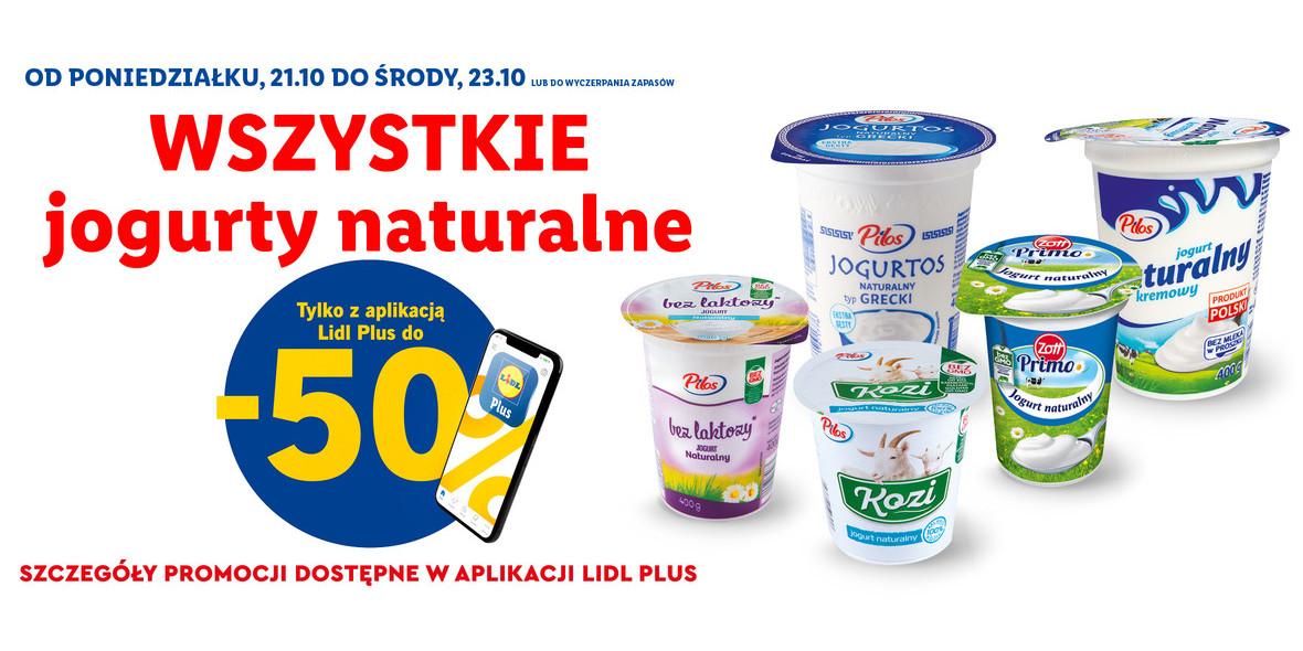 na wszystkie jogurty naturalne