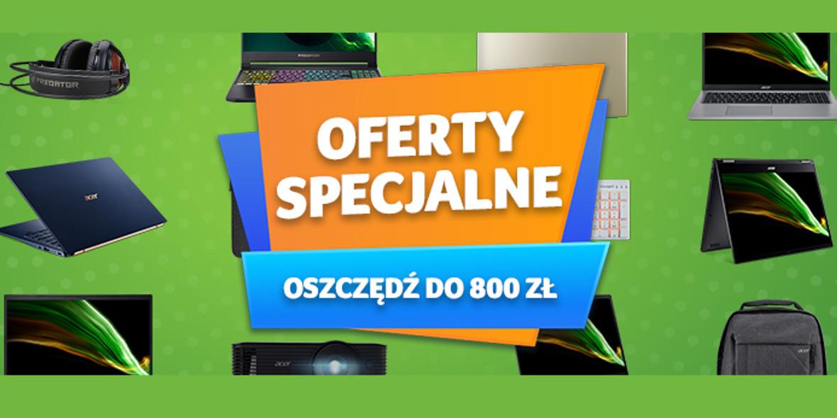 Acer:  Do -800 zł na wybrane urządzenia Acer 15.09.2021