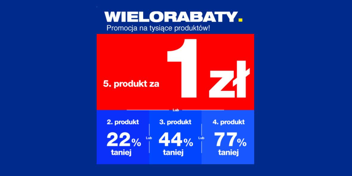 RTV EURO AGD: Do -77% lub piąty produkt za 1 zł 22.06.2021
