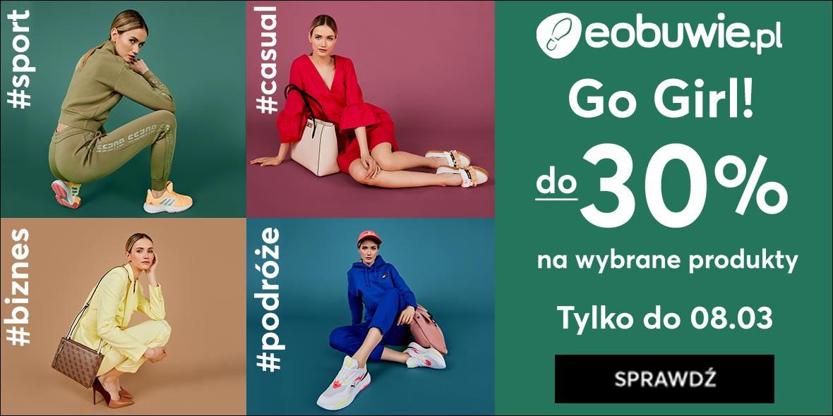 eobuwie.pl: Kod: do -30% na wybrane produkty 05.03.2021