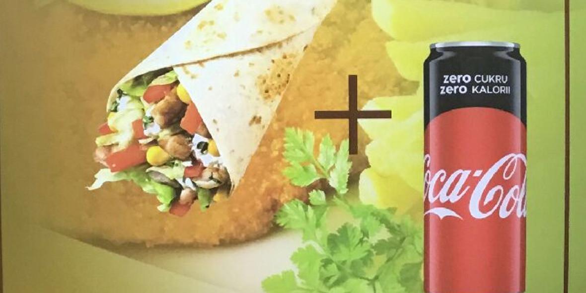 za Rollo Kebab + Coca-Cola