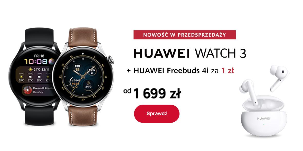 Huawei: 1 zł za słuchawki przy zakupie smartwatch'a 17.06.2021