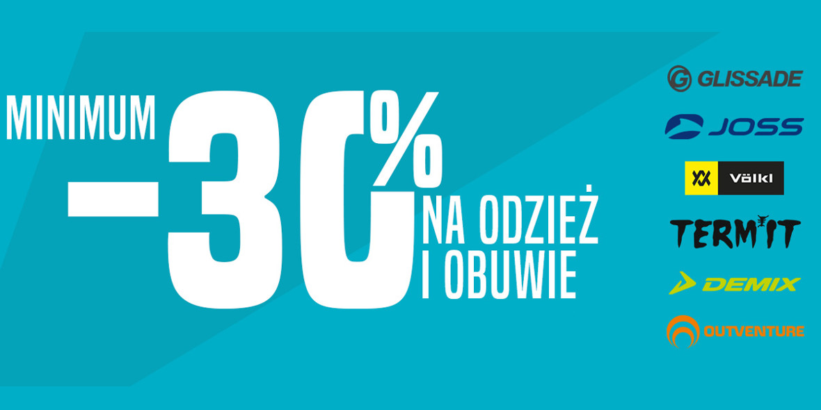 Go Sport: Od -30% na odzież i obuwie 14.01.2021