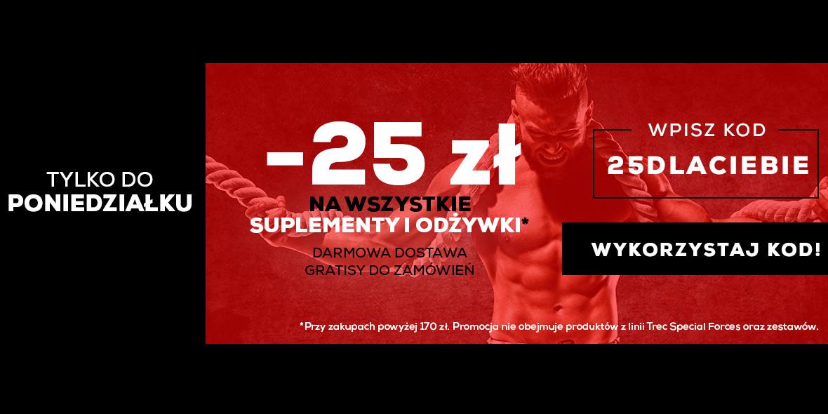 Trec.pl: Kod: -25 zł na wszystkie odżywki i suplementy 15.04.2021