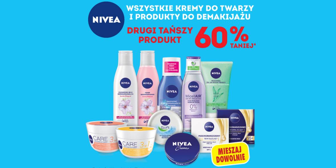 Biedronka: -60% na drugi tańszy produkt Nivea 21.09.2021