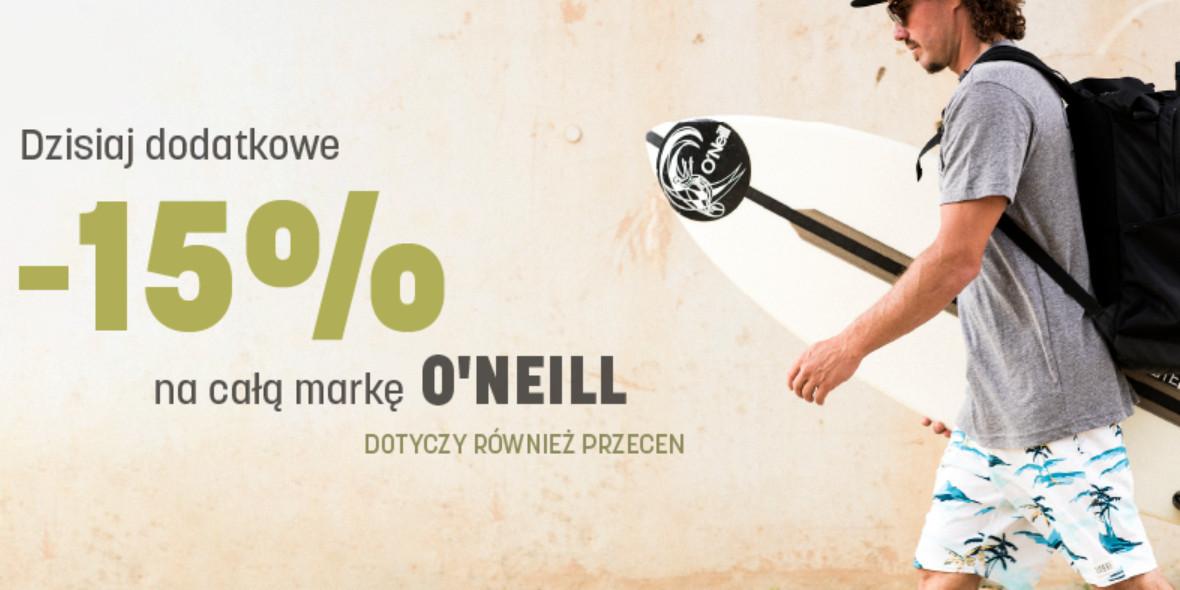 Martes Sport: -15% na produkty dla marki O'NEILL 30.06.2021