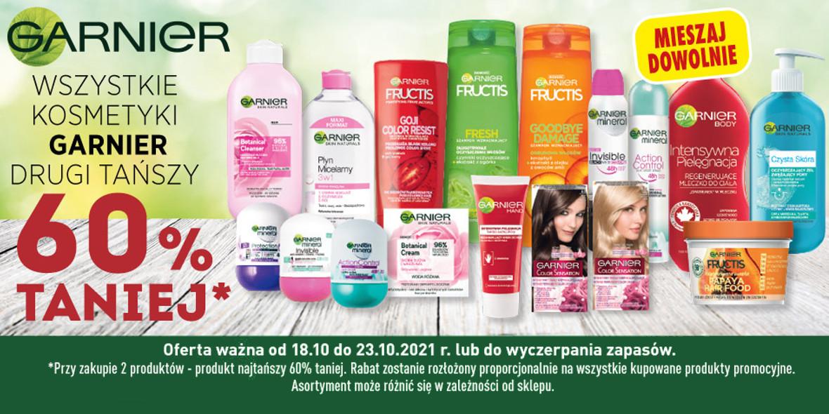 Biedronka: -60% na drugi tańszy kosmetyk Garnier 18.10.2021