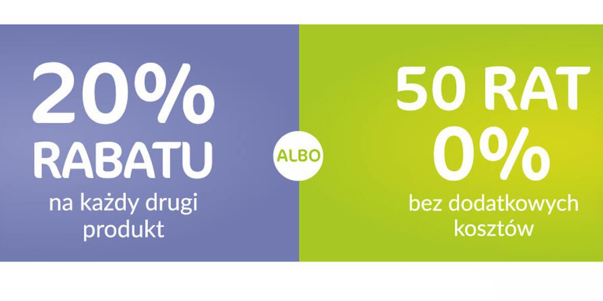 Agata Meble:  -20% na każdy drugi produkt albo 50 rat 0% 01.06.2021