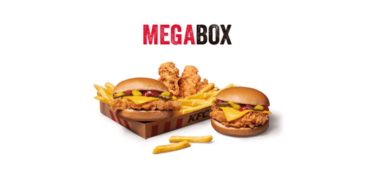 KFC: 19,95 zł za Mega Box 08.09.2021