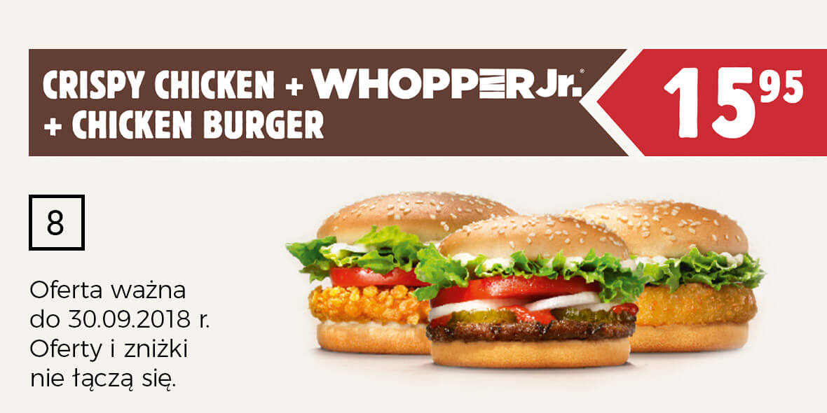za Crispy Chicken + WhopperJr. + Chicken Burger