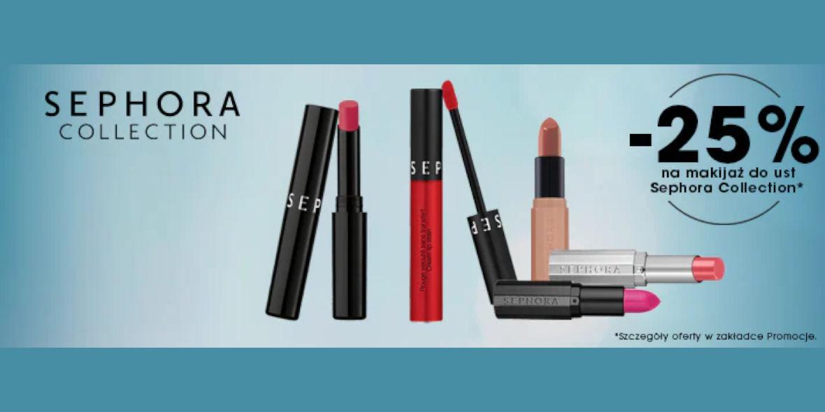 Sephora: -25% na makijaż ust 21.09.2021