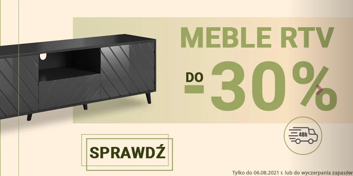 Meble-Bogart.pl: Do -30% na meble RTV 23.07.2021