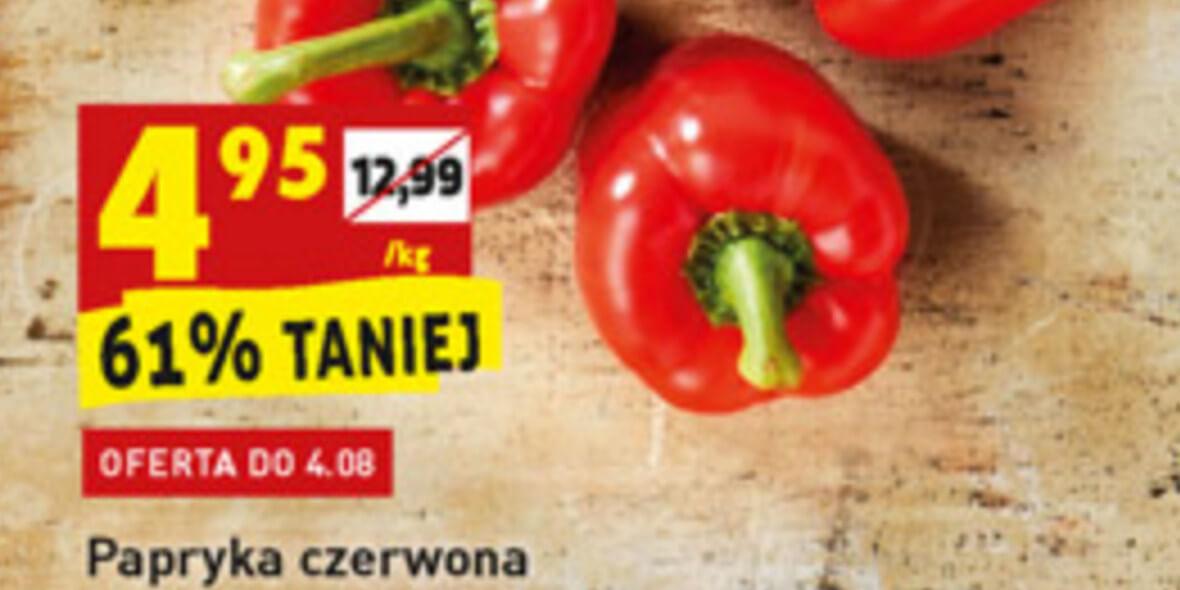 Biedronka: -61% na paprykę czerwoną 03.08.2021