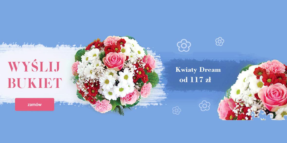 Poczta kwiatowa: Od 117 zł za kwiaty Dream
