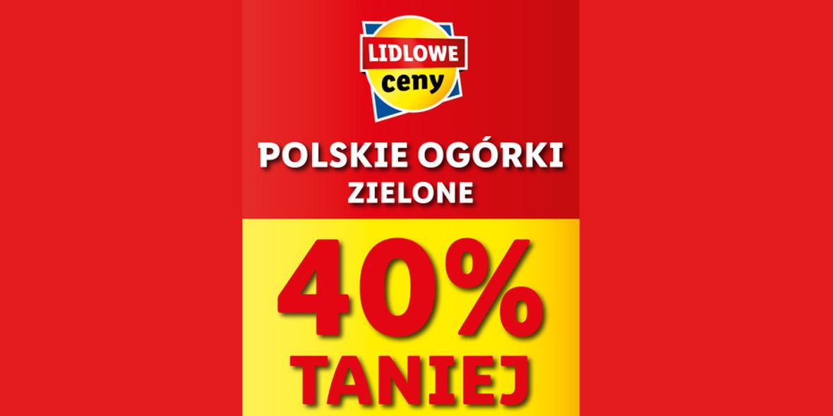 Lidl: -40% na polskie ogórki zielone 19.04.2021