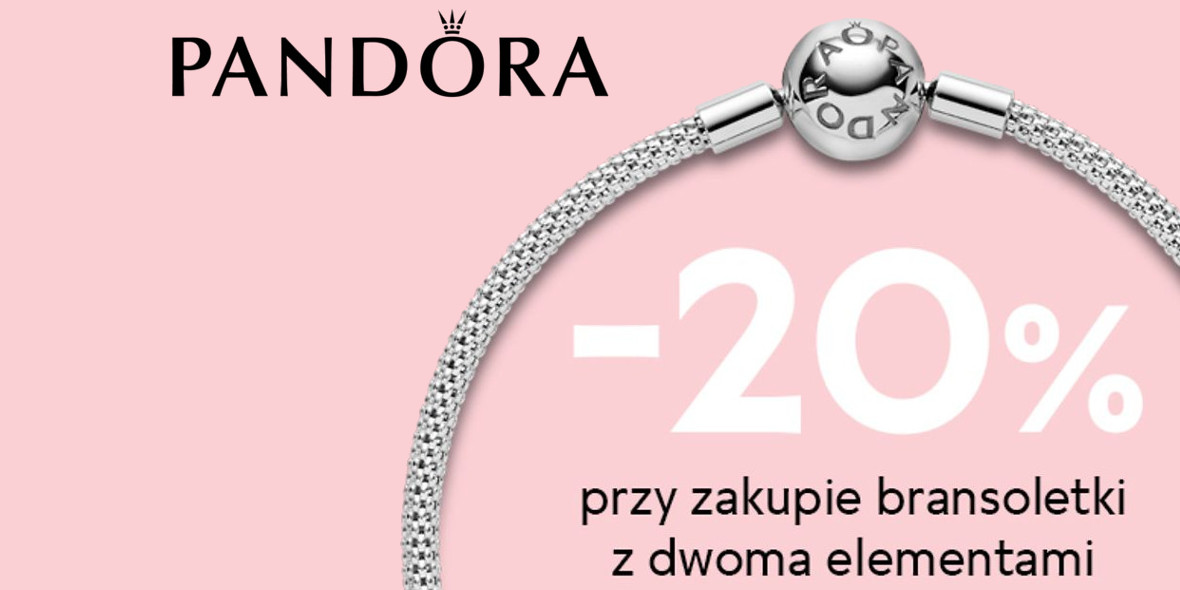 Pandora: -20% na bransoletkę z 2 elementami