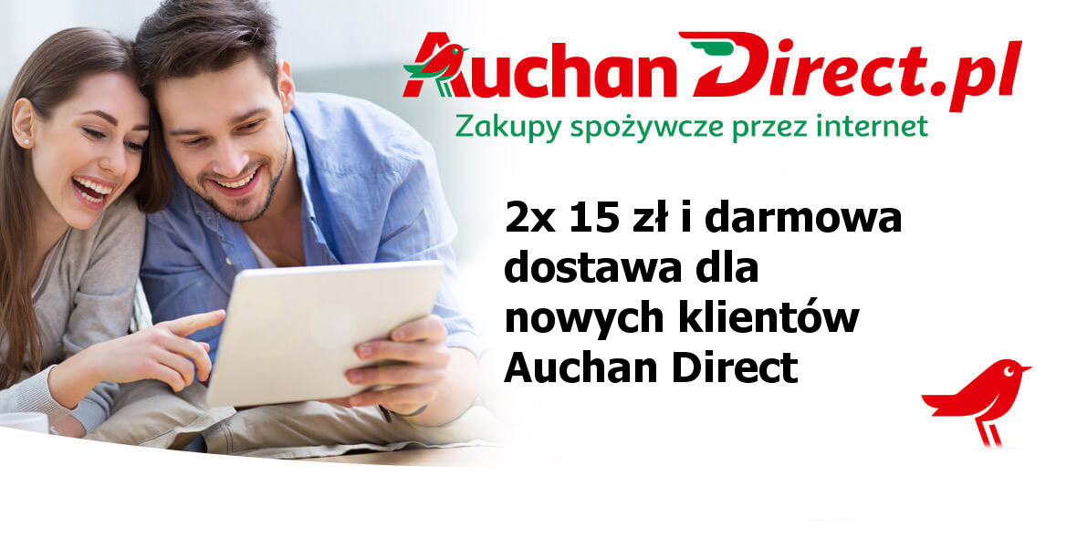 + darmowa dostawa dla nowych klientów Auchan