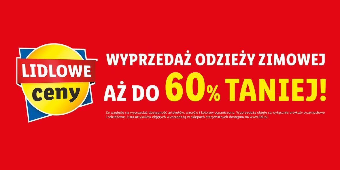 Lidl: ONLINE do -60% na odzież zimową 11.01.2021