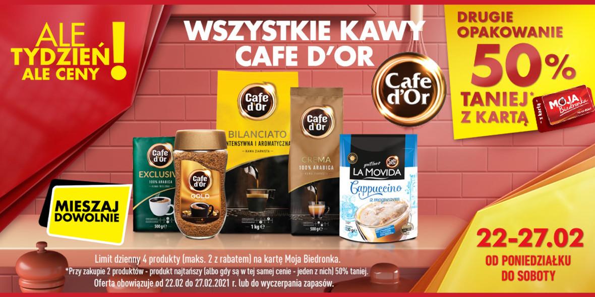 Biedronka: -50% na drugie opakowanie kawy 22.02.2021