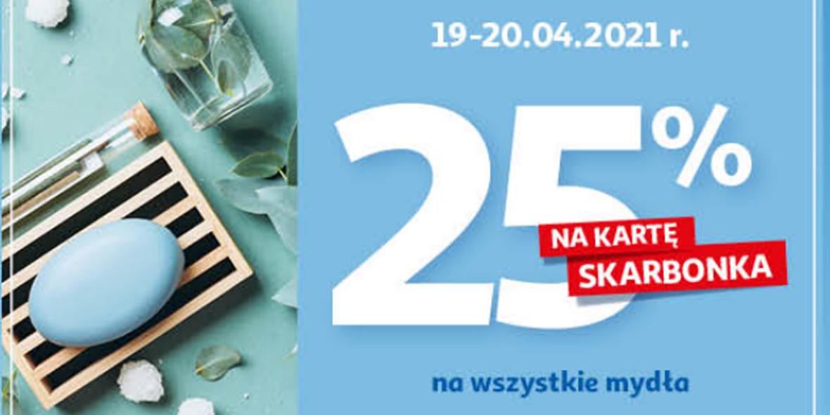 Auchan: 25% zwrotu na kartę Skarbonka na wszystkie mydła 19.04.2021
