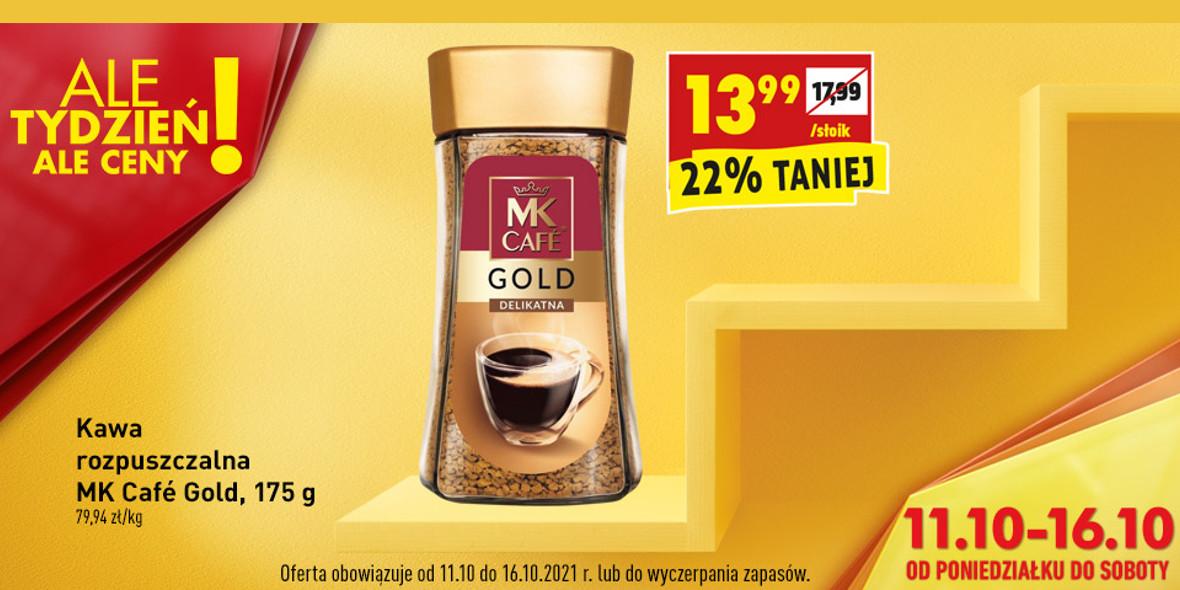 Biedronka: -22% na kawę rozpuszczalną  MK Café Gold 12.10.2021