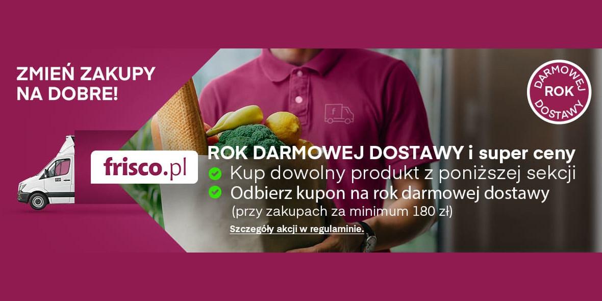 Frisco: Rok darmowej dostawy na Frisco.pl 01.03.2021