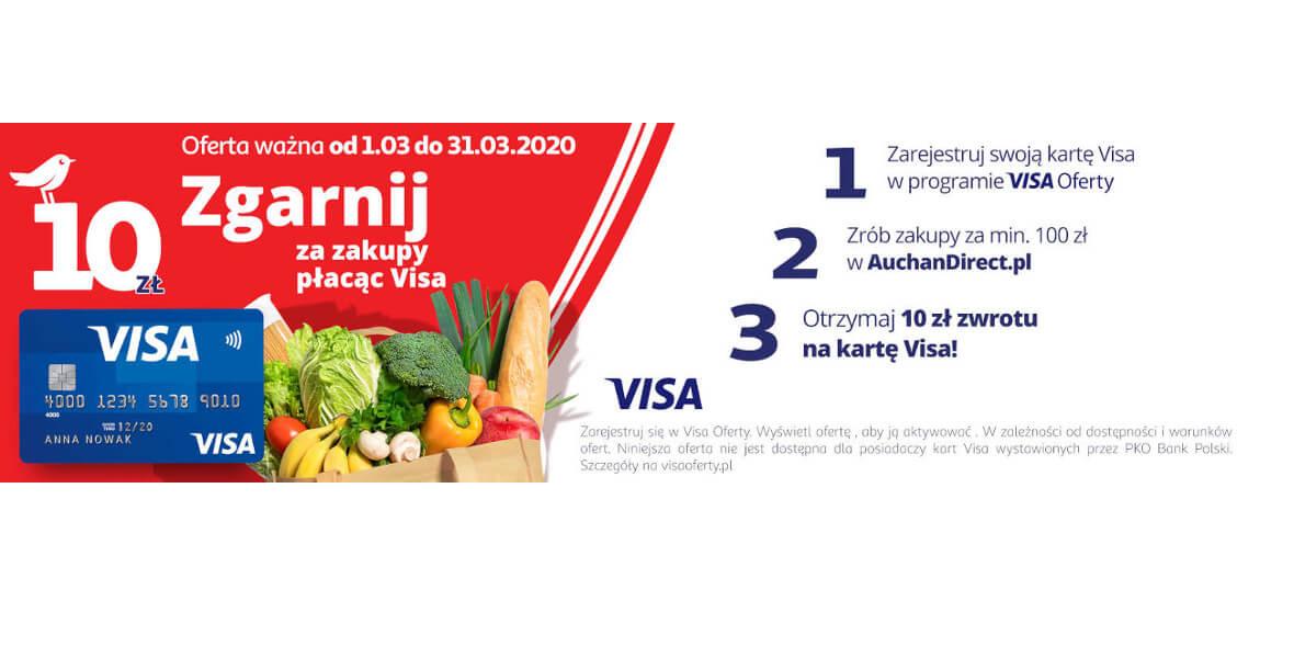 zwrotu za najbliższe zakupy za min. 100 zł