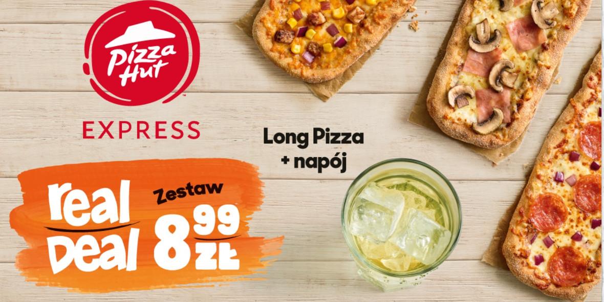 za zestaw: Long Pizza + napój