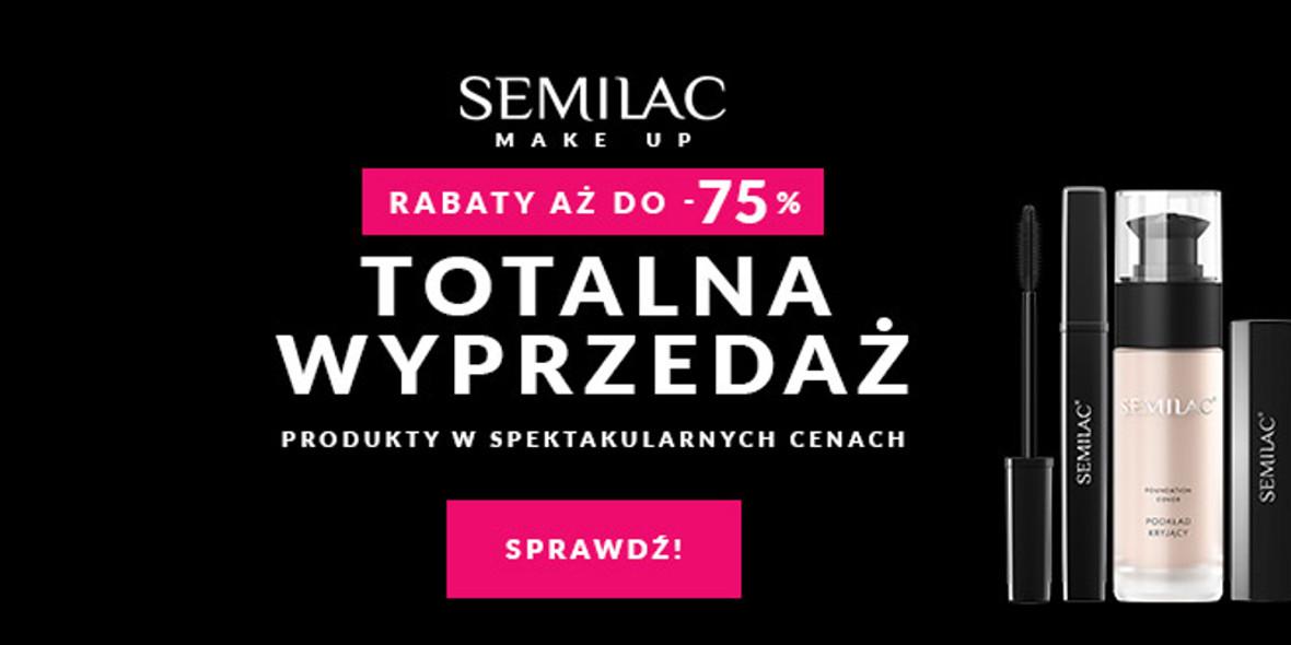 Semilac:  Do -75% na wybrane produkty 01.01.0001
