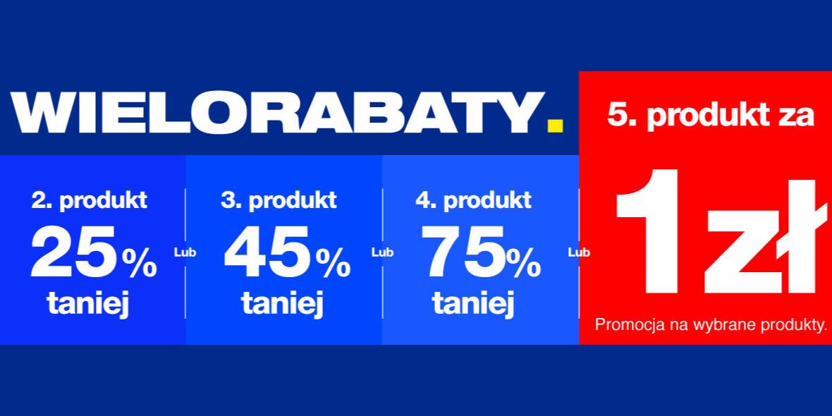 RTV EURO AGD: Do -75% lub piąty produkt za 1 zł 20.04.2021