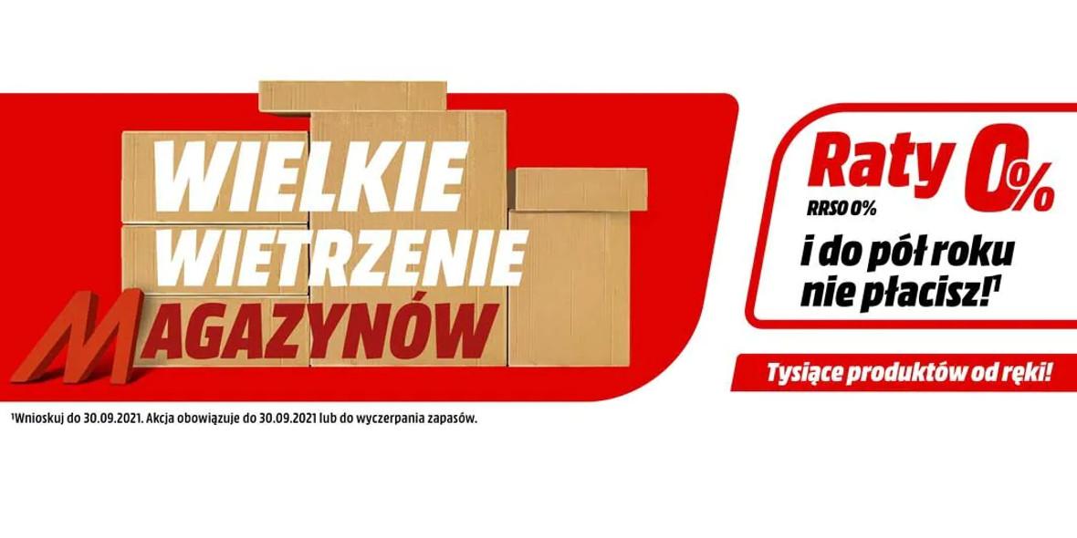 Media Markt: Do -1000 zł na setki produktów 08.09.2021