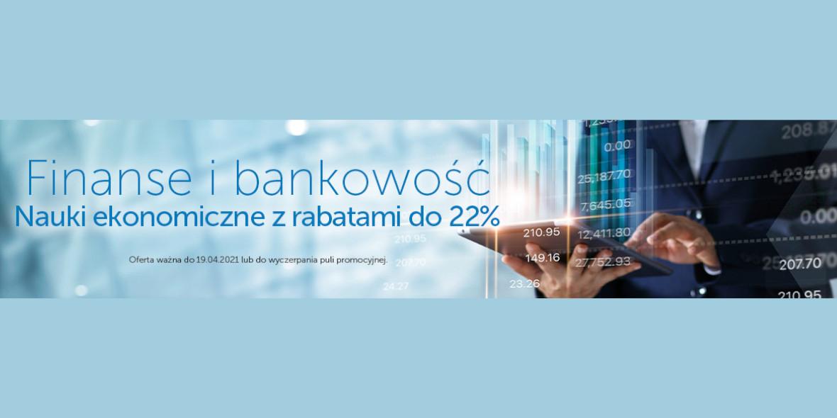 Księgarnia Internetowa PWN: -22% na finanse i bankowość 08.04.2021