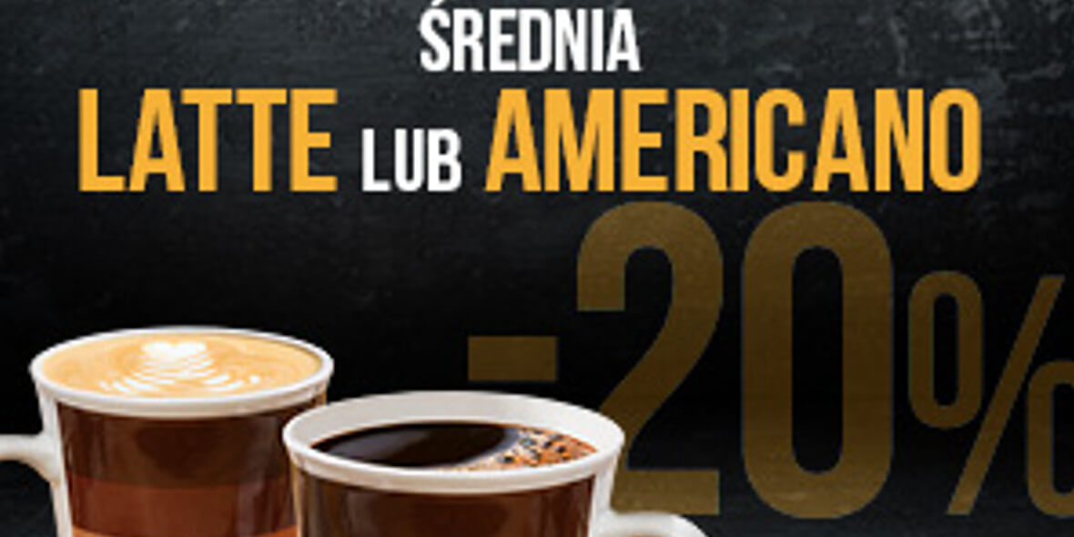 SO! COFFEE: -20% na średnią kawę americano lub latte