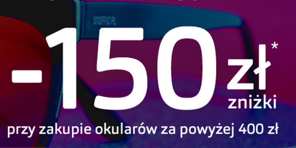 Vision Express: -150 zł przy zakupie okularów powyżej 400 zł 01.10.2021