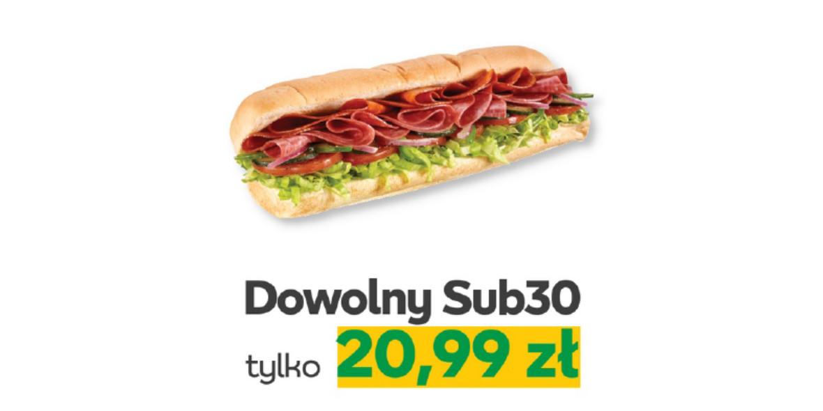 Subway: 20,99 zł za dowolony Sub30