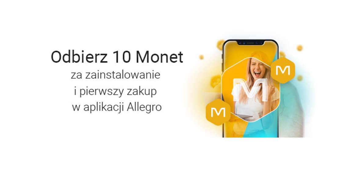 za zainstalowanie i zakup w aplikacji Allegro
