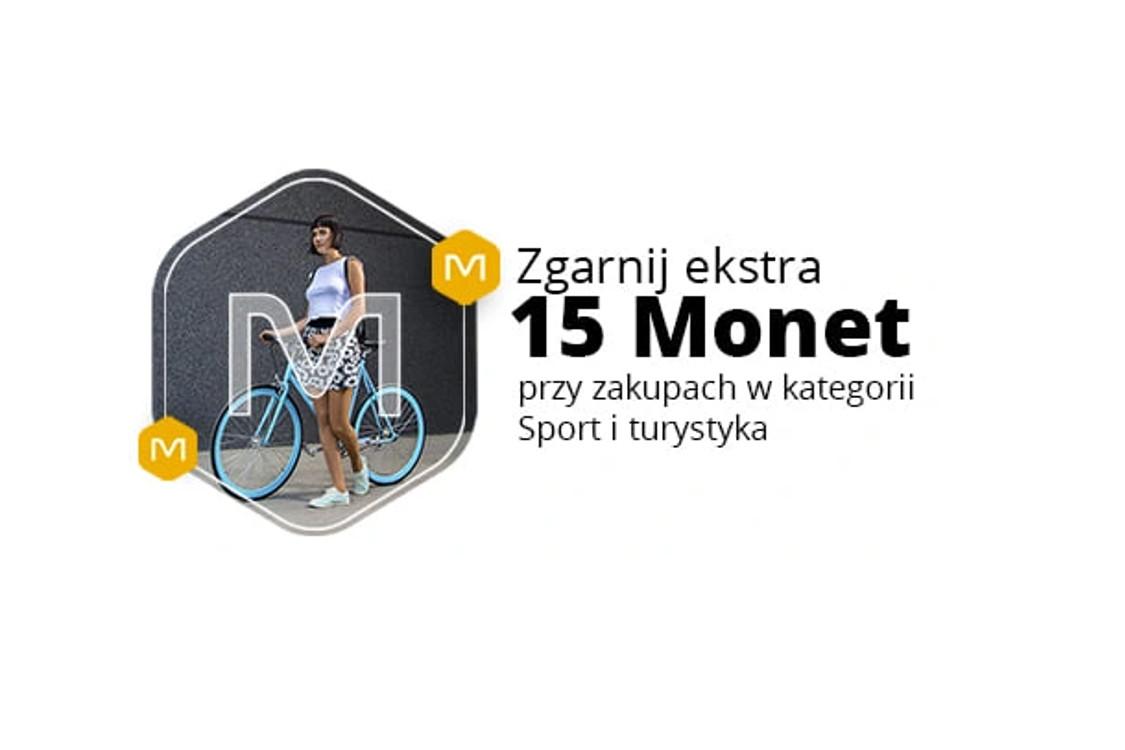 +15 Monet przy zakupie za min. 200 zł w kategoriach Sport i turystyka oraz Rowery i pojazdy dla dzieci