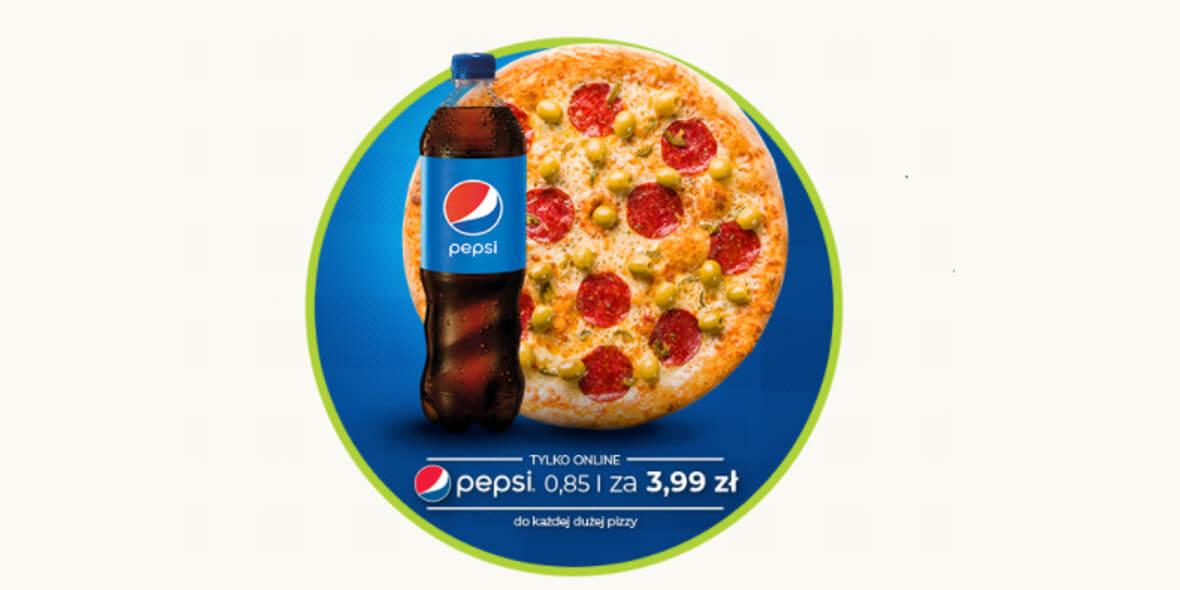 Da Grasso: 3,99 zł za Pepsi przy zakupie dowolnej dużej Pizzy 01.03.2021