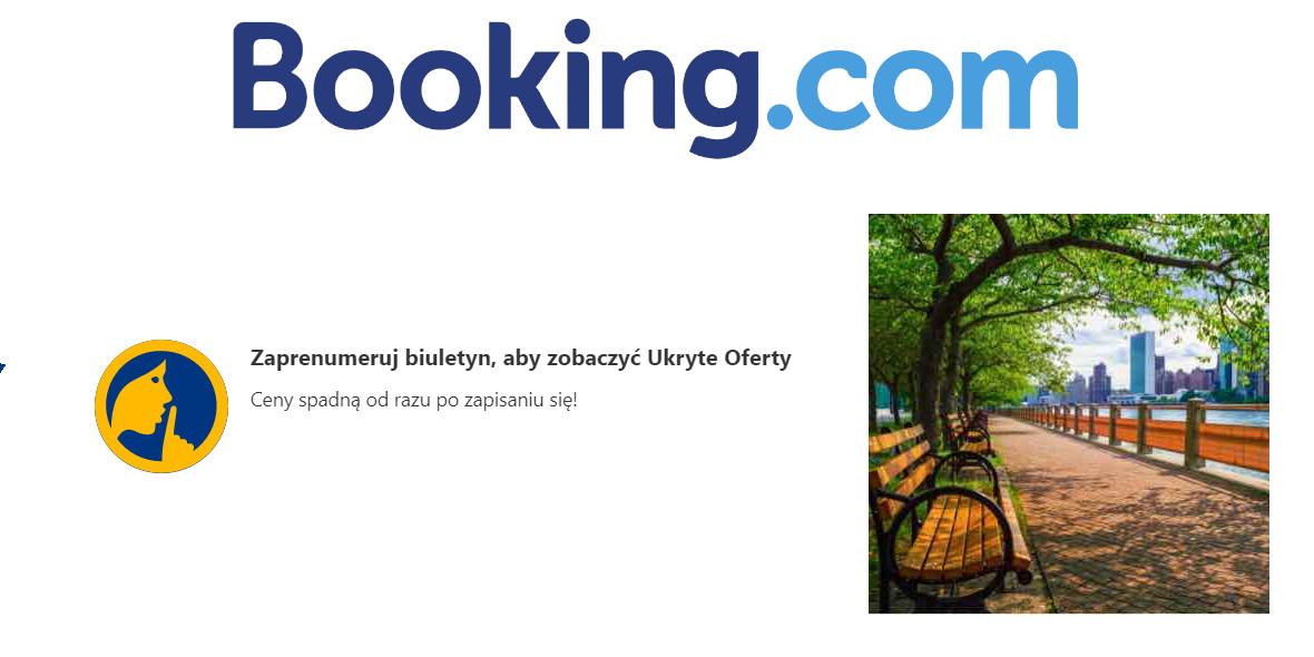 Booking.com: Zapisz się do biuletynu Booking.com
