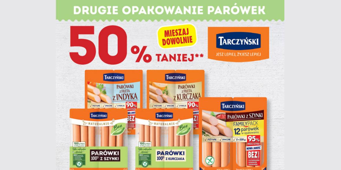 Biedronka: -50% na drugie opakowanie parówek Tarczyński 19.04.2021
