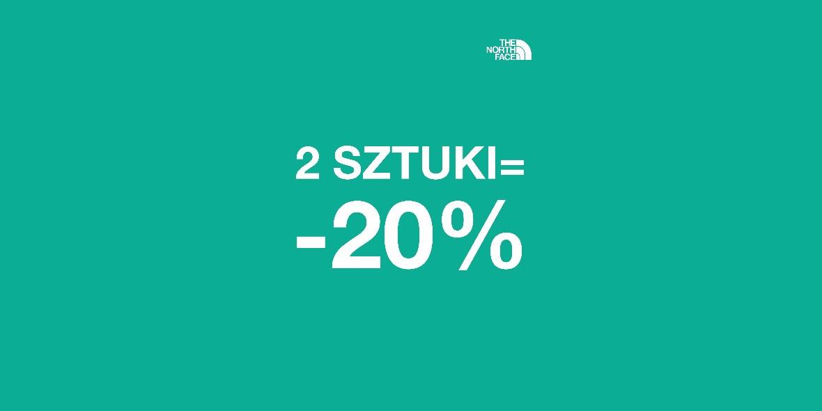 The North Face: -20% przy zakupie 2 produktów