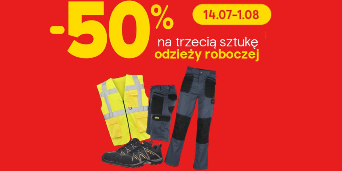 Castorama: -50% na trzecią sztukę odzieży roboczej i 4% zwrotu