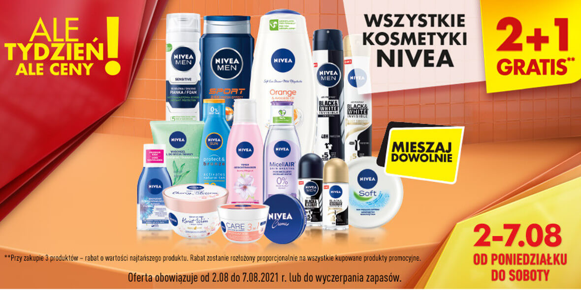 Biedronka: 2 + 1 na wszystkie kosmetyki Nivea 02.08.2021
