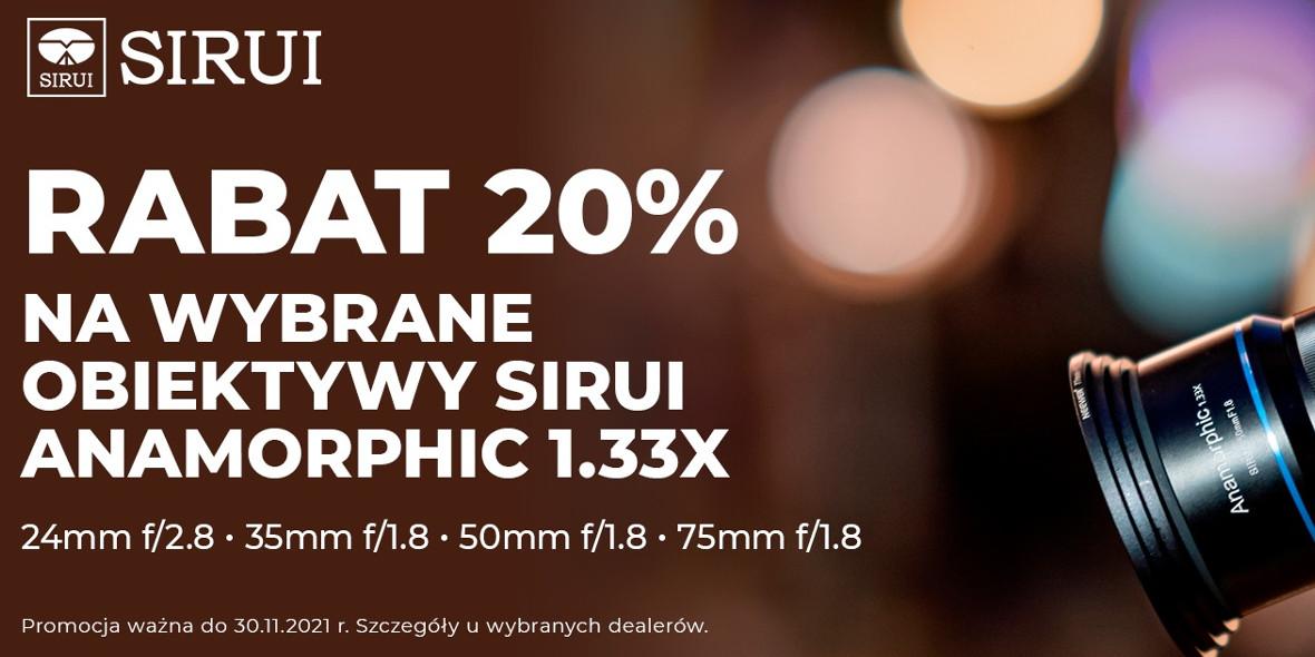 FotoForma: -20% na obiektywy Sirui 22.10.2021