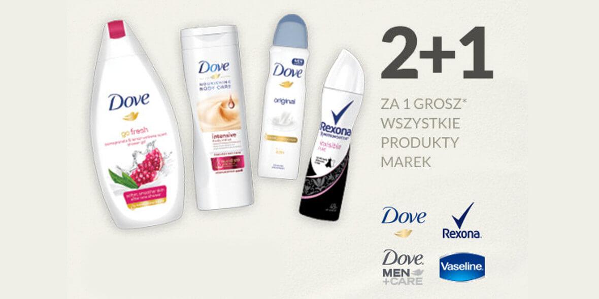 na kosmetyki Dove, Dove Men, Vaseline lub Rexona