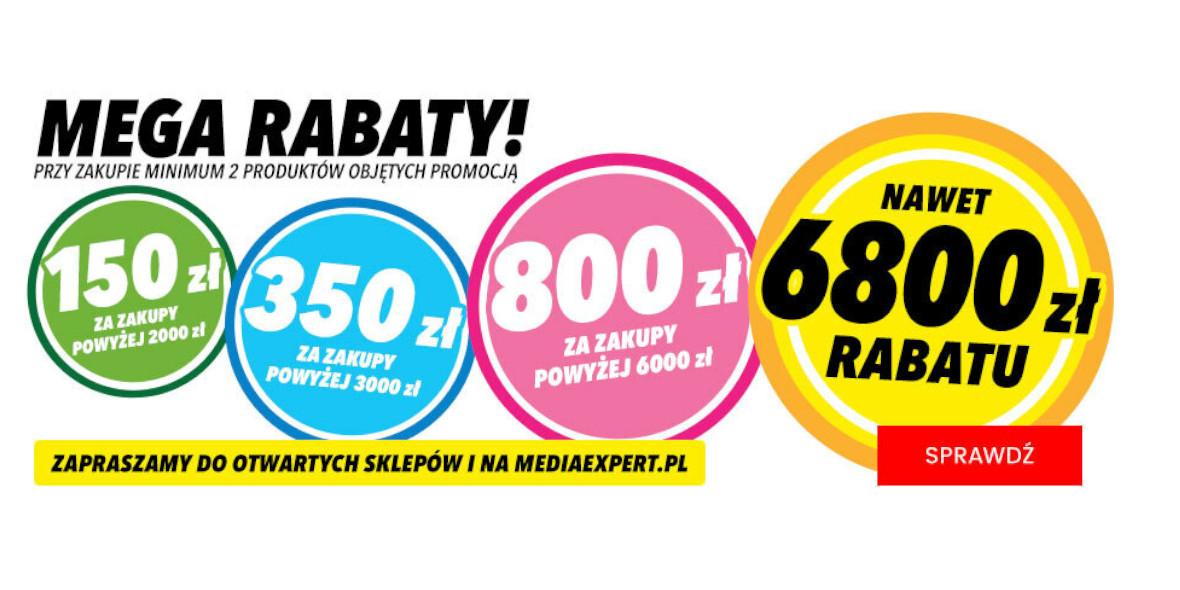Media Expert: Do -6800 zł przy zakupie min. 2 produktów z kodem