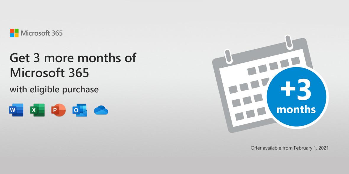 Microsoft: 3 miesiące dodatkowo do subskrypcji Microsoft 365