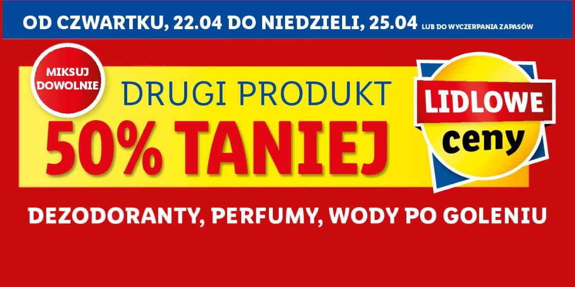 Lidl: -50% na drugie opakowanie wybranych kosmetyków 22.04.2021
